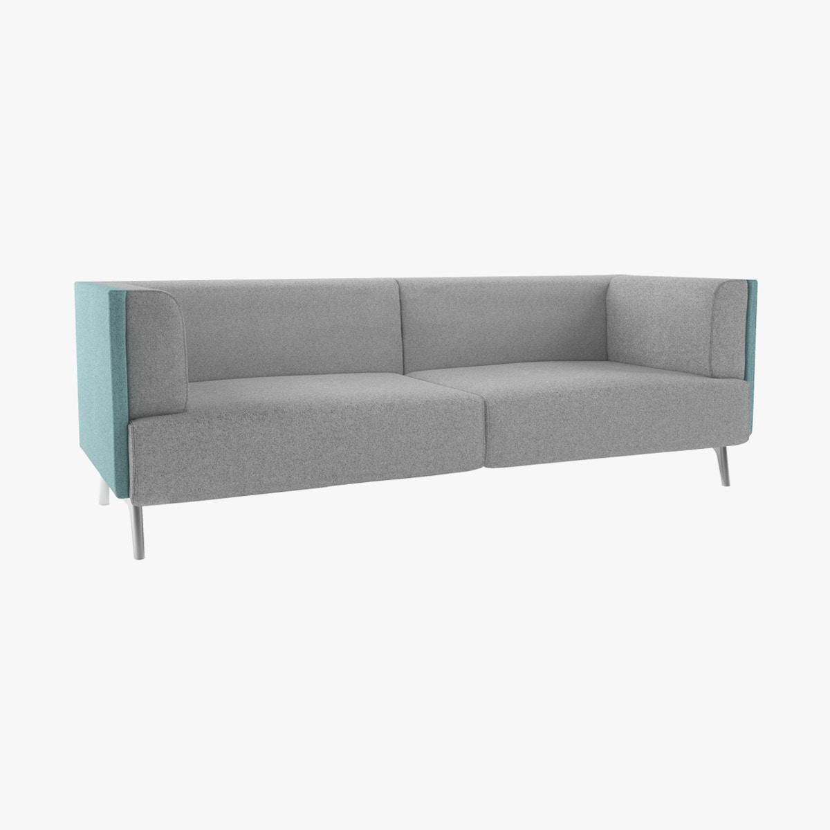 Tryst Low Back Three Seat Sofa